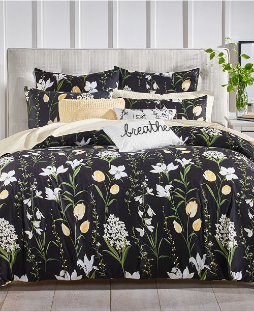 Charter Club Pressed Floral Bedding Collection, Created for Macy's