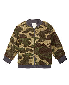 First Impressions Baby Boys Faux-Sherpa Camouflage Bomber Jacket, Created for Macy's