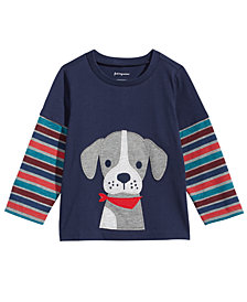 First Impressions Toddler Boys Layered-Look Dog-Print T-Shirt, Created for Macy's