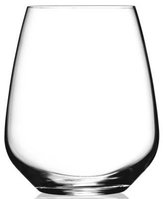 Glassware, Set of 4 Crescendo Stemless Wine Glasses