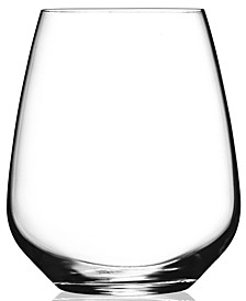 Glassware, Set of 4 Crescendo Stemless Wine Glasses