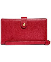 d0e3a6f4911b COACH Boxed Phone Wristlet in Polished Pebble Leather
