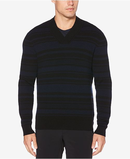18642514f7 Perry Ellis Men s Striped V-Neck Sweater - Sweaters - Men - Macy s