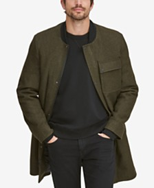 Marc New York Men's Baseball Coat with Removable Hood