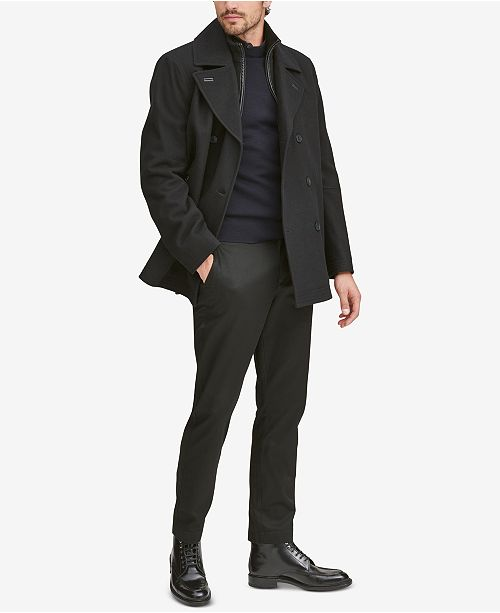 Marc New York Men's Emmett Wool Peacoat