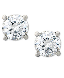 Certified Diamond Stud Earrings in Platinum