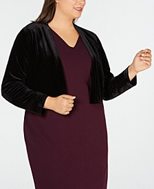 Plus Size Velvet Shrug