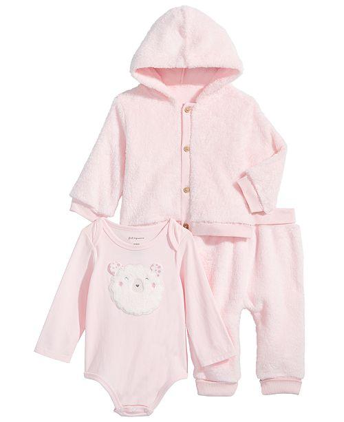 41b6b7b98 First Impressions. Baby Boys & Girls Fleece Hoodie, Lamb Bodysuit & Fleece  Jogger Pants, Created for Macy's