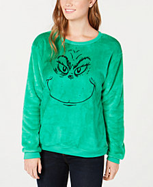 Love Tribe Juniors' Grinch Fuzzy Sweatshirt