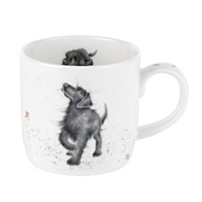"Royal Worcester Wrendale 11 oz. Dog Mug ""Walkies"" - Set of 6"