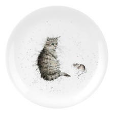 "Royal Worcester Wrendale  8"" Cat Plate ""Cat and Mouse"" - Set of 4"