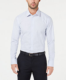 Tallia Men's Slim-Fit Non-Iron Performance Stretch Striped Dress Shirt