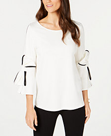 Alfani Bow-Sleeve Top, Created for Macy's
