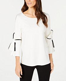 Alfani Bow-Sleeve Top, Created for Macy's