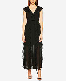 Bardot Ruffled V-Neck Maxi Dress