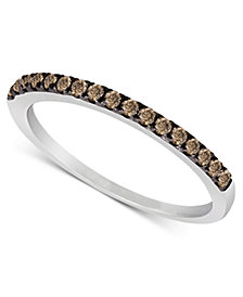 Le Vian Chocolate Diamond Pave Band (1/4 ct. t.w.) in 14k White or Rose Gold