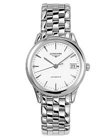 Longines Men's Swiss Automatic Flagship Stainless Steel Bracelet Watch 36mm L47744126