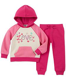 Kids Headquarters Little Girls 2-Pc. Colorblocked Fleece Hoodie & Jogger Pants Set