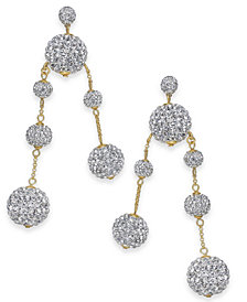 kate spade new york Pavé Orb Mismatch Drop Earrings