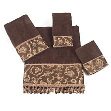 Avanti Damask Fringe Jacquard Fingertip Towel