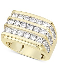 Men's Diamond Multi-Row Ring (3 ct. t.w.) in 10k Gold