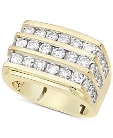 Men's Diamond Multi-Row Ring (3 ct. t.w.) in 10k Gold