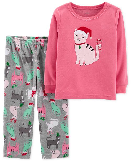 44a91f775 Carter's Toddler Girls 2-Pc. Fleece Cat Pajamas Set & Reviews ...