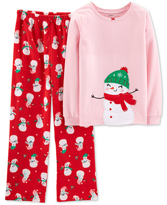 136cd4fe8 Carter's Toddler Girls 2-Pc. Snowman Pajama Set & Reviews - Pajamas - Kids  - Macy's