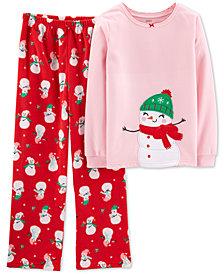 Carter's Toddler Girls 2-Pc. Snowman Pajama Set