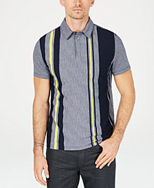 Alfani Men's Regular-Fit Vertical Stripe Polo, Created for Macy's