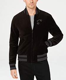 Michael Kors Men's Regular-Fit Velvet Bomber Jacket