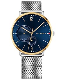 Men's Stainless Steel Mesh Bracelet Watch 40mm