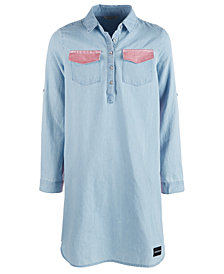 Tommy Hilfiger Big Girls Chambray Shirt Dress