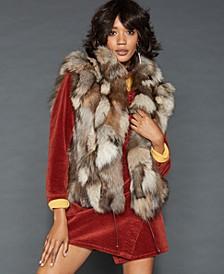 Pieced Fox Fur Vest