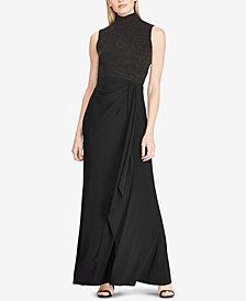 Lauren Ralph Lauren Ruffle-Trim Gown