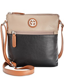 292bc987e2e Giani Bernini Colorblock Nappa Leather Crossbody, Created for Macy s