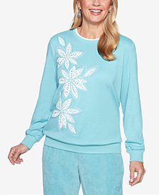 Alfred Dunner Simply Irresistible Embellished Appliqué Sweatshirt