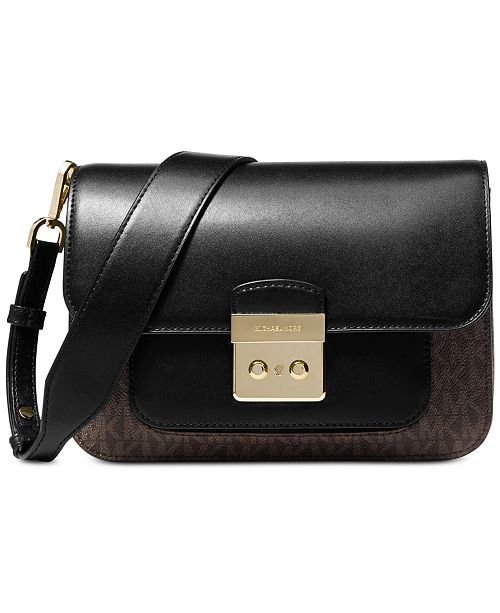 23830427b1c3 ... Michael Kors Sloan Editor Signature Colorblock Shoulder Bag ...