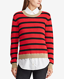 Lauren Ralph Lauren Layered-Look Striped Shirt