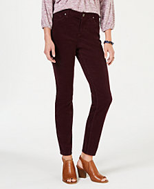 Style & Co Curvy Corduroy Skinny Jeans, Created for Macy's