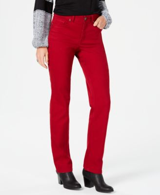 Image of Style & Co Tummy-Control Straight-Leg Jeans, Created for Macy's