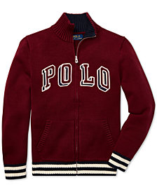 Polo Ralph Lauren Big Boys Full-Zip Cotton Sweater