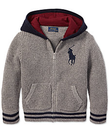 Polo Ralph Lauren Toddler Boys Waffle-Knit Hoodie