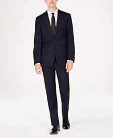 Men's Slim-Fit Navy Twill Wool Tuxedo