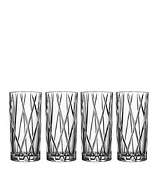 City Highball Glasses, Set of 4
