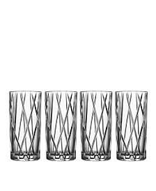 Orrefors City Highball Glasses, Set of 4