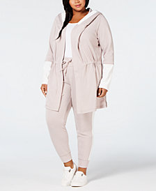 Calvin Klein Performance Plus Size Velour Hoodie & Sweatpants