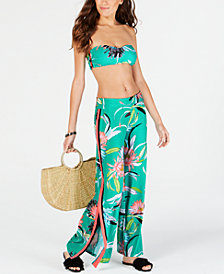 Trina Turk Shangri La Floral Roll Top Pant Cover-Up