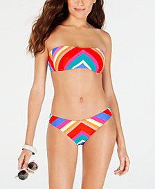 Trina Turk Sunset Chevron Bandeau Bikini Top & Sunset Chevron Basic Hipster Bottoms