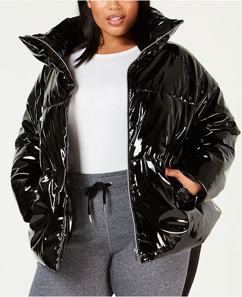 33967678f74 Calvin Klein Plus Size Shiny Puffer Jacket & Reviews - Jackets ...